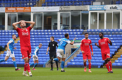 Jonson Clarke-Harris of Peterborough United wheels away to celebrate after scoring his second goal against Swindon Town - Mandatory by-line: Joe Dent/JMP - 03/10/2020 - FOOTBALL - Weston Homes Stadium - Peterborough, England - Peterborough United v Swindon Town - Sky Bet League One