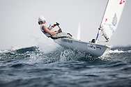 The 2015 Laser Women's Radial World Championship. Mussanah. Oman. November 18-26 November. Day 3 of racing - Marit Bouwmeester (NED)<br /> <br /> Image licensed to Lloyd Images