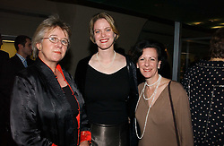 Left to right, SALLY SALVESEN, JULIA MARCIARI ALEXANDER and AMY MEYERS Director of the Yale Center for British Art at 'Britannia & Muscovy English Silver at The Court of The Tsars' exhibition opening at the Gilbert Collection, Somerset House, London on 20th October 2006<br /><br />NON EXCLUSIVE - WORLD RIGHTS