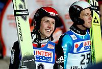 Hopp Ski Jumping<br /> World Cup - Verdenscup<br /> Lillehammer Lysgårdsbakken 02.12.06<br /> Foto: Kasper Wikestad<br /> <br /> Gold gull and Silver sølv - Simon Ammann und Andreas Kuettel - Sveits Suisse Switzerland