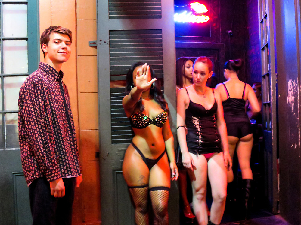 Barely 18, he encountered women of the night on Bourbon Street in New Orleans, Louisiana