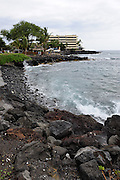The lava and rock strewn coastline of Kailua-Kona, Big Island, Hawaii RIGHTS MANAGED LICENSE AVAILABLE FROM www.PhotoLibrary.com