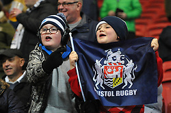 Bristol Rugby supporters at Ashton Gate Stadium - Mandatory by-line: Paul Knight/JMP - 22/12/2017 - RUGBY - Ashton Gate Stadium - Bristol, England - Bristol Rugby v Cornish Pirates - Greene King IPA Championship