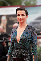 Actress Juliette Binoche at the gala screening for the film L'attesa at the 72nd Venice Film Festival, Saturday September 5th 2015, Venice Lido, Italy.