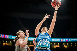 Zala Friskovec of Slovenia during basketball match between Women National teams of Belgium and Slovenia in the Qualification for the Quarter-Finals of Women's Eurobasket 2019, on July 2, 2019 in Belgrade Arena, Belgrade, Serbia. Photo by Vid Ponikvar / Sportida