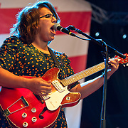 COLUMBIA, MD - October 6th, 2012 - Brittany Howard of The Alabama Shakes perform at the 2012 Virgin Mobile FreeFest in Columbia, MD. (Photo by Kyle Gustafson / For The Washington Post)