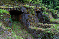 63.2 Shimogawara Smelting Ruins 島根県  At one point, Japan produced a third of the world's silver and most of this was mined at Iwami Ginzan. Silver from Iwami was exported overseas and it played a large role in supporting trade between Europe and Asia. The Shimogawara Smelting Ruins was where the raw silver extracted from the mines had to be processed before shipping.