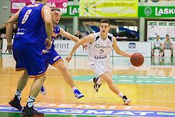 Nejc Baric of KK Zlatorog during basketball match between KK Zlatorog and KK Helios Suns in 1st match of Nova KBM Slovenian Champions League Final 2015/16 on May 29, 2016  in Dvorana Zlatorog, Lasko, Slovenia.  Photo by Ziga Zupan / Sportida