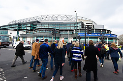 Supporters arrive at Twickenham Stadium - Mandatory byline: Patrick Khachfe/JMP - 07966 386802 - 06/04/2019 - RUGBY UNION - Twickenham Stadium - London, England - Bath Rugby v Bristol Rugby - The Clash - Gallagher Premiership Rugby