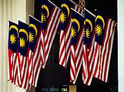 Malasian Flags hanging on Malaysia National Day, Kuala Lumpur, Malaysia.
