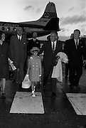 25/08/1963<br /> 08/25/1963<br /> 25 August 1963<br /> Royal Visit by Prince Rainier and Princess Grace of Monaco. The Royal family arrive at Dublin Airport. A smiling Prince Rainier, one arm about daughter Caroline's shoulder arrives at Dublin Airport.