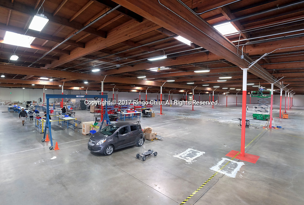 The facility of Romeo Power, which designs and manufactures electric vehicle battery packs, has moved in to a new 113,000 sq. feet facility in Vernon with plans to hire an additional 200 manufacturing personnel in 2017 as automakers ramp up electric vehicle production. (Photo by Ringo Chiu/PHOTOFORMULA.com)<br /> <br /> Usage Notes: This content is intended for editorial use only. For other uses, additional clearances may be required.