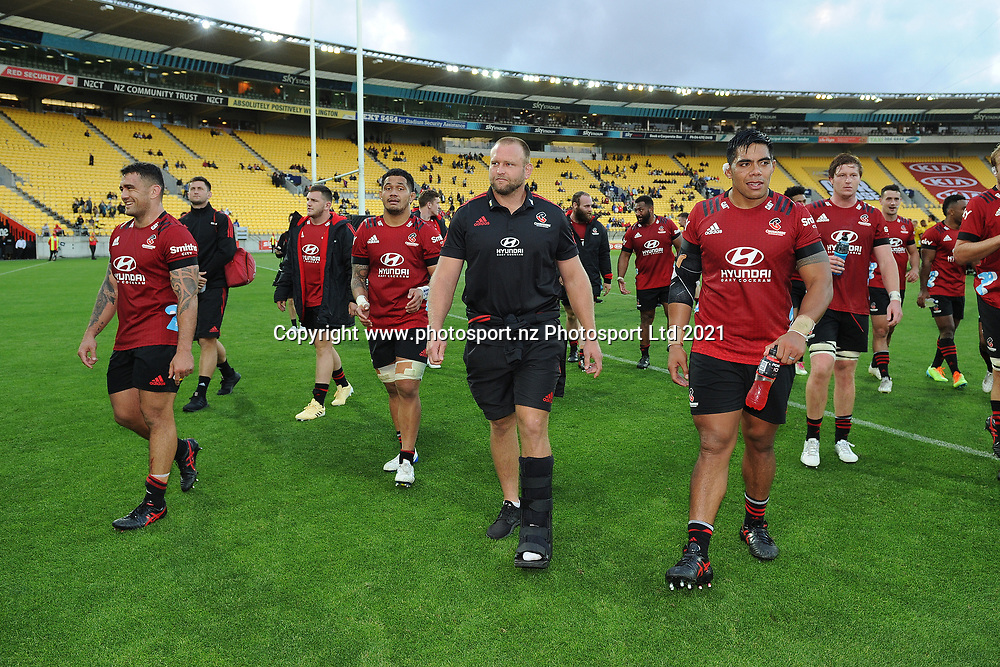 Crusaders Joe Moody following the Super Rugby match, Hurricanes v Crusaders, Sky Stadium, Wellington, Sunday, April 11, 2021. Copyright photo: Kerry Marshall / www.photosport.nz