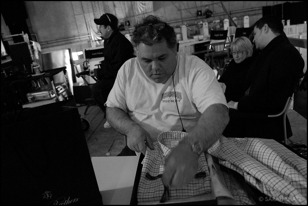 "Joe Badalucco on the set of ""Ghost Town"" (Dir: David Koepp, 2008)"