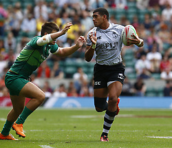 May 26, 2019 - London, England, United Kingdom - Meli Derenalagi of Fiji.during The HSBC World Rugby Sevens Series 2019 London 7s Cup Quarter Final Match 32 between Fiji and Ireland at Twickenham on 26 May 2019. (Credit Image: © Action Foto Sport/NurPhoto via ZUMA Press)
