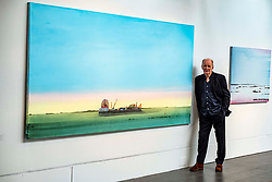 Pictured: Jock McFadyen next to Esturay Music 2007<br /><br />Artist Jock McFadyen's 70th birthday year is being celebrated with his Lost Boat Party exhibition at the Dovecot Studios, Edinburgh, (in partnership with The Scottish Gallery), of recent paintings which describe the romance and grandeur of the Scottish landscape, alongside the urban dystopia for which the artist is known<br />Ger Harley | EEm 10 June 2021
