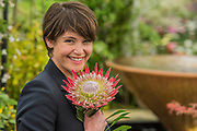 Gemma Arterton on the Burncoose Nurseries - The Chelsea Flower Show organised by the Royal Horticultural Society with M&G as its main sponsor for the final year.