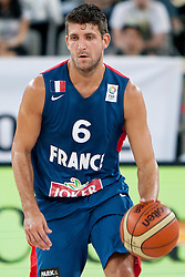 Antoine Diot of France during last friendly match before Eurobasket 2013 between National teams of Slovenia and France on August 31, 2013 in SRC Stozice, Ljubljana, Slovenia. (Photo by Urban Urbanc / Sportida.com)