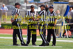 01 October 2016:  Bob Hansen, Kendall Gant, Gary Dulaney and Bob Millward during an NCAA division 3 football game between the Wheaton Thunder and the Illinois Wesleyan Titans in Tucci Stadium on Wilder Field, Bloomington IL (Photo by Alan Look)