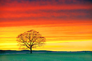 Sunset in Hadley Massachusetts