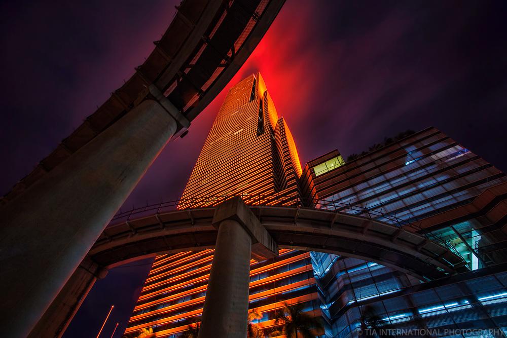Miami Tower & Metromover Rails (Orange)