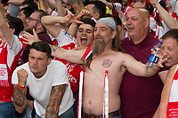 Arsenal fans celebrate after the match   <br /> <br /> <br /> Photographer Craig Mercer/CameraSport<br /> <br /> The Emirates FA Cup Final - Arsenal v Chelsea - Saturday 27th May 2017 - Wembley Stadium - London<br />  <br /> World Copyright © 2017 CameraSport. All rights reserved. 43 Linden Ave. Countesthorpe. Leicester. England. LE8 5PG - Tel: +44 (0) 116 277 4147 - admin@camerasport.com - www.camerasport.com