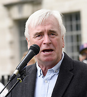John McDonnell at the NHS 73rd Birthday - Protest for NHS pay justice, Patient Safety and an End to Privatisation. The march started at UCH (University College London Hospitals NHS Foundation Trust) and finished in Parliament Square.