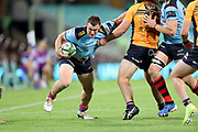 Tom Horton pushes off Lachlan Lonergan. NSW Waratahs v ACT Brumbies. 2021 Super Rugby AU Round 7 Match. Played at Sydney Cricket Ground on Friday 2 April 2021. Photo Clay Cross / photosport.nz
