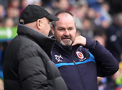 Reading Manager, Steve Clarke chats with Cardiff City Manager, Russell Slade - Photo mandatory by-line: Robbie Stephenson/JMP - Mobile: 07966 386802 - 04/04/2015 - SPORT - Football - Reading - Madejski Stadium - Reading v Cardiff City - Sky Bet Championship