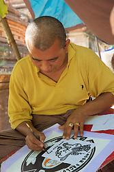 Artist Making Birth Sign, Gubyaukgyi Temple (Myinkaba)