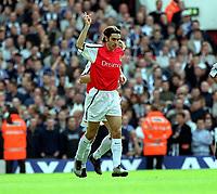 Fotball. FA-cup 2001/2002.<br /> Arsenal v Newcastle 23.03.2002.<br /> Robert Pires, Arsenal.<br /> Foto: David Price, Digitalsport