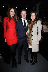 Left to right, ARABELLA MUSGRAVE, GUY PELLY and CAROLINE SIEBER at the launch party for the new nightclub Public at 533 Kings Road, London on 2nd December 2010.