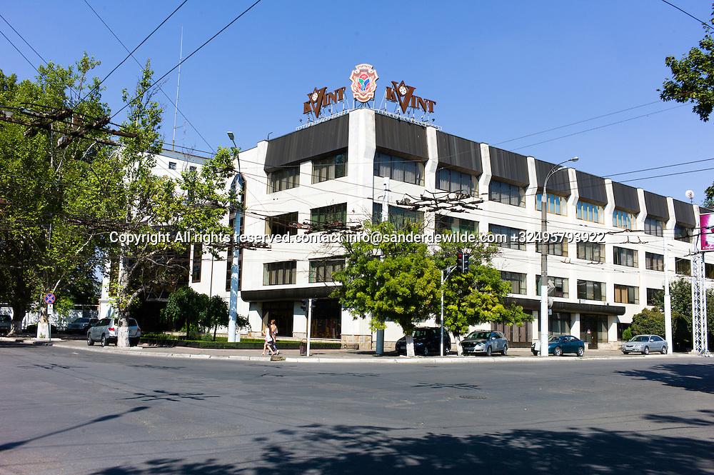20150825  Moldova, Transnistria, Tiraspol. Kvint factory is a famous factory  of strong liquids like wodka, in the center of Tiraspol