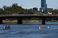 Rowers return to the Yarra during the 35th day of zero COVID-19 cases in Victoria, Australia. School and community sport is ramping up and as the weather improves, more people are venturing out and about to enjoy this great city. Pressure is mounting on Premier Daniel Andrews to keep his promise of removing all remaining restrictions. (Photo by Dave Hewison/Speed Media)