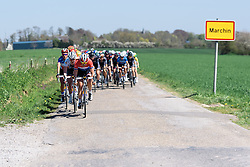 Lucinda Brand (Rabo Liv) sets the pace - Flèche Wallonne Femmes - a 137km road race from starting and finishing in Huy on April 20, 2016 in Liege, Belgium.