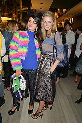 Left to right, BIP LING and DONNA AIR at the Veryexclusive.co.uk Launch Party held at Watches of Switzerland, 155 Regents Street, London on 20th February 2015.