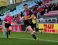 Rugby Union - 2020 / 2021 Gallagher Premiership - Round 16 - Harlequins vs Worcester Warriors - The Stoop<br /> <br /> Luke Northmore of Quins runs over for his second half try<br /> <br /> Credit : COLORSPORT/ANDREW COWIE