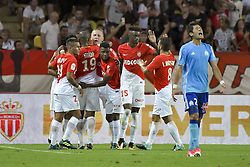 August 27, 2017 - Monaco, France - Joie AS Monaco - Rony Lopes - Djibril Sidibe - Kamil Glik - Thomas Lemar - Adama Diakhaby - Joao Moutinho (AS Monaco) - Hiroki Sakai  (Credit Image: © Panoramic via ZUMA Press)