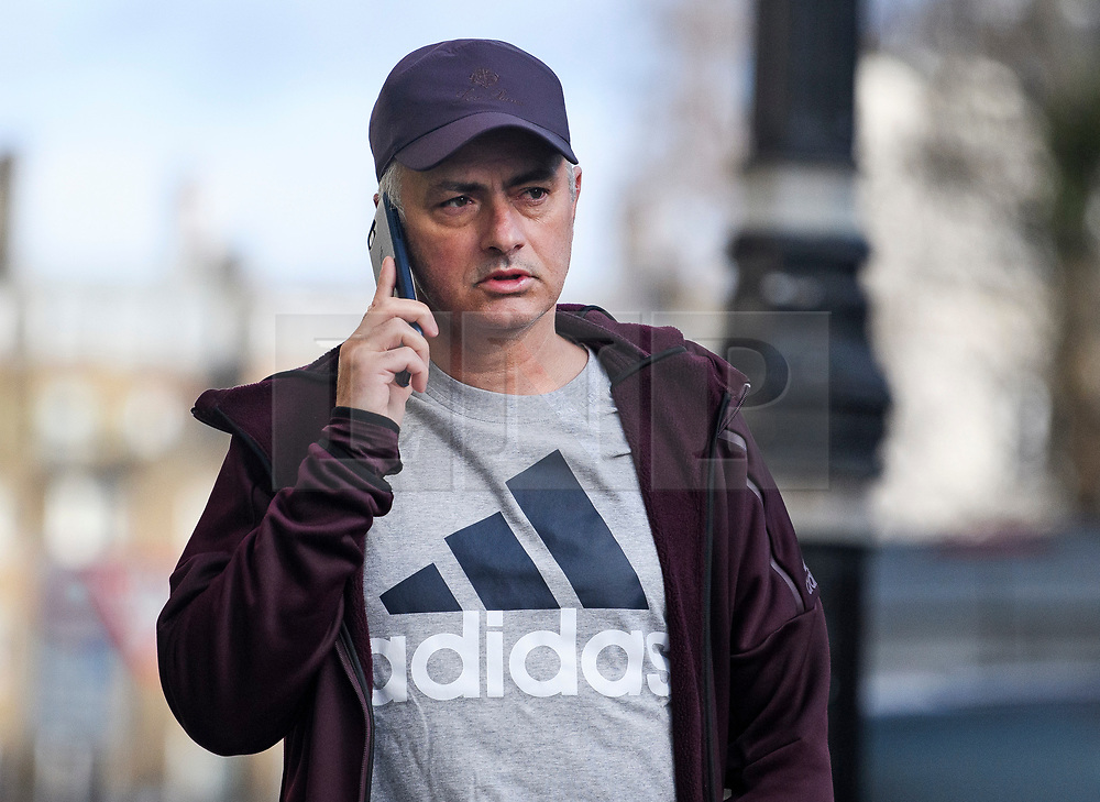 """© Licensed to London News Pictures. 20/12/2018. London, UK. Former Manchester United manager JOSE MOURINHO is seen at his London home. The self titled """"Special One"""" was sacked following defat to Liverpool at the weekend. Photo credit: Ben Cawthra/LNP"""
