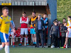 Broxburn Athletic manager Brian McNaughton. Broxburn Athletic FC 3 v 0 Cowdenbeath, William Hill Scottish Cup 2nd Round replay played 26/10/2019 at Albyn Park, Greendykes Road, Broxburn.
