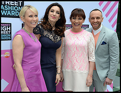 The Judges arrive for Lorraine's High Street Fashion Awards, L to r Ali Hall ,Kelly Brook, Lorriane Kelly, Mark Heyes, Wednesday, 22nd May 2013,Picture by Andrew Parsons / i-Images