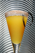 A festive Pumpkin French 75 cocktail, as served at Seattle's Troiani.<br /> Ken Lambert / The Seattle Times