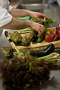 Atmosphere of our restaurant.  The greatest care is taken over the quality and freshness of the ingredients, many coming from the Villa?s own organic vegetable gardens.  The refined cuisine, until recently reserved for hotel guests, is today open to the public serving dishes inspired by the culinary traditions of the Naples region and the Mediterranean.  The historic setting of the restaurant, the cuisine of a great chef, fine service and an excellent wine cellar are some of the features which make lunch or dinner at Villa Cimbrone a unique experience.