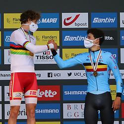 BRUGGE (BEL): CYCLING: SEPTEMBER 21th: <br /> Danish rider Gustav Wang is the new world junior time trial champion. 3th Alec Segaert