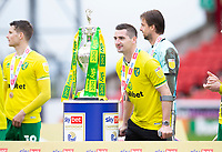 Football - 2020 / 2021 Sky Bet Championship - Barnsley vs Norwich City - Oakwell<br /> <br /> Kenny McLean of Norwich City poses with the trophy<br /> <br /> Credit :COLORSPORT/BRUCE WHITE