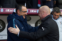 Chelsea manager Maurizio Sarri (L) and Burnley manager Sean Dyche - Mandatory by-line: Jack Phillips/JMP - 28/10/2018 - FOOTBALL - Turf Moor - Burnley, England - Burnley v Chelsea - English Premier League