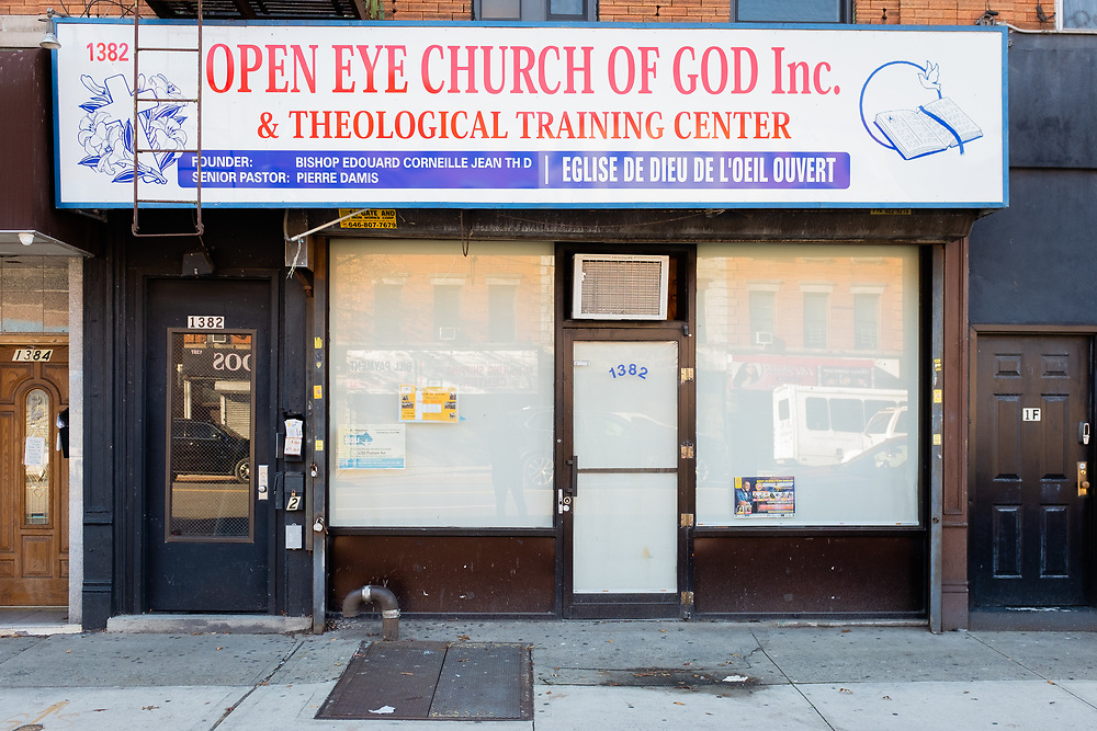 Open Eye Church of God Inc. & Theological Training Center, 1382 Flatbush Avenue, Brooklyn.