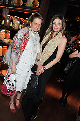 Left to right, SVETLANA K-LIE and MARTHA FIENNES at W London - Leicester Square for the Liberatum Cultural Honour in Spice Market for John Hurt, CBE in association with artist Svetlana K-Lié on 10th April 2013.