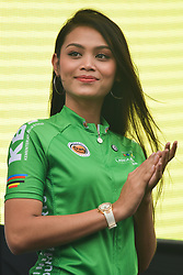 March 23, 2018 - Tanjung Malim, Malaysia - One of the podium girls seen during the Awards Ceremony of the sixth stage, the 108.5km from Tapah to Tanjung Malim, of the 2018 Le Tour de Langkawi. .On Friday, March 23, 2018, in Tanjung Malim, Malaysia. (Credit Image: © Artur Widak/NurPhoto via ZUMA Press)