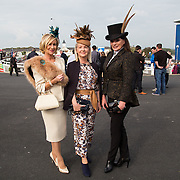 09.10.2016           <br /> Attend the Keanes Jewellers Best dressed competition at Limerick Racecourse were, Eilish Stack, Breda Kelly and Diana Hilliard. Picture: Alan Place
